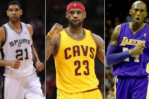 Tim Duncan; LeBron James; Kobe Bryant